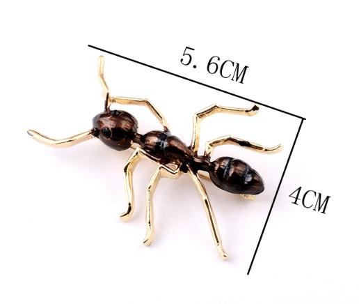 Брошь брошка значок металлический насекомое МУРАВЕЙ ОГРОМНЫЙ мурашка