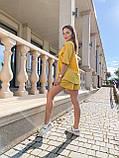 Костюм женский летний с шортами  Размеры 42-44, 46-48 Цвета: горчица, оливка, фото 6