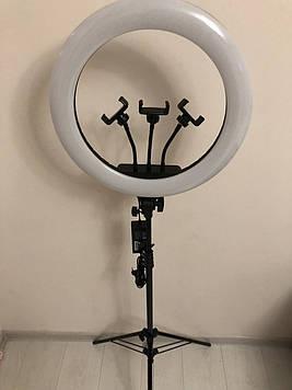 Професійна кільцева LED лампа 45 см 3Х ,55 W , штатив-триногою висота 210 см
