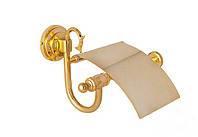 Держатель для туалетной бумаги с крышкой(латунь) Versace