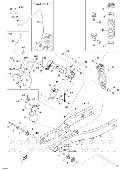 Внутренняя втулка Can-Am BRP Inside bushing