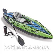 Надувная байдарка Intex 68305 Challenger K1 Kayak