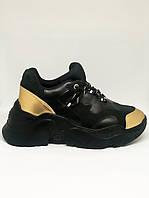 Женские кроссовки SOFIMARAT Чёрные с золотом 39 размер(24,5см-25см)