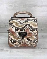 Сумка рюкзак женский змеиный принт 18*19 WeLassie