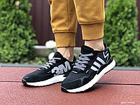 Кроссовки Adidas Nite Jogger Boost 3M черно белые