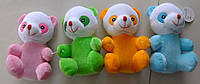 Мишка плюшевый цветной, мягкая игрушка 4цвета