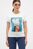 GLEM бирюза-Пион белый футболка Boy-2, фото 1