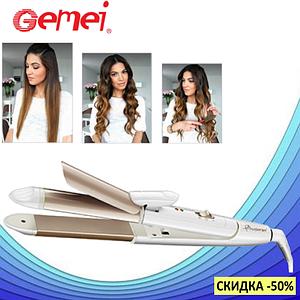 Плойка-утюжок для волос Gemei GM-2961 2 в 1 - Мультистайлер с гофре для укладки волос (s197)