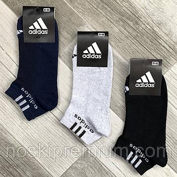 Носки мужские спортивные х/б с сеткой Adidas Athletic, размер 41-44, короткие, ассорти, 12614