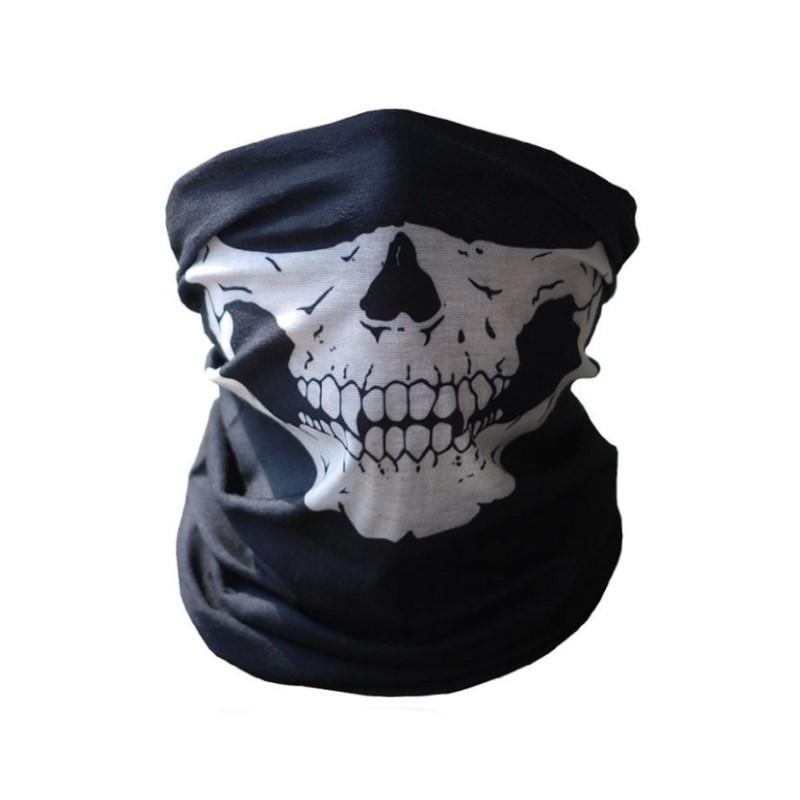 Бафф маска с рисунком черепа (Челюсть) Белая 1, Унисекс