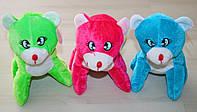 Мишка плюшевый цветной, мягкая игрушка 3цвета