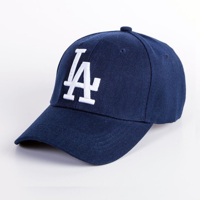Кепка бейсболка в стиле LA (Лос-Анджелес) Синяя, Унисекс