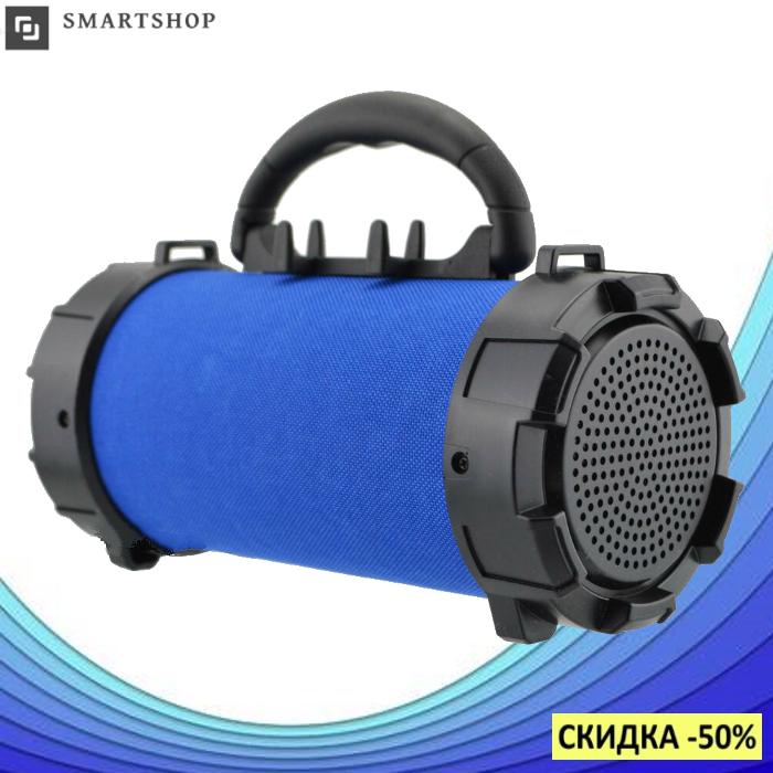 Портативная bluetooth колонка SPS F18 Super Bass с фонариком, Синяя