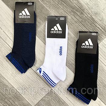 Носки мужские спортивные х/б с сеткой Adidas Athletic, размер 41-44, короткие, ассорти, 12608
