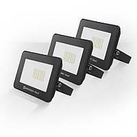 Набір з 3х світлодіодних прожекторів ЕВРОСВЕТ 20Вт 6400К EV-20-504 STAND 1600Лм