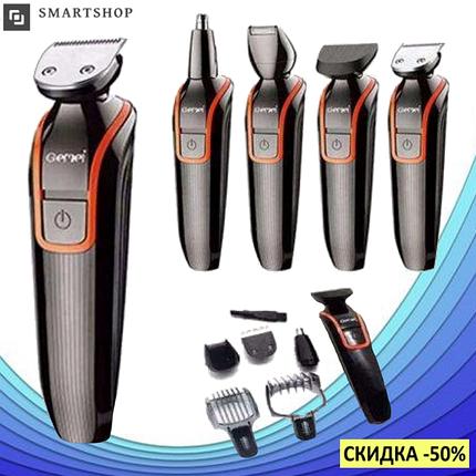 Беспроводная машинка для стрижки волос GEMEI GM-583 + Триммер, фото 2
