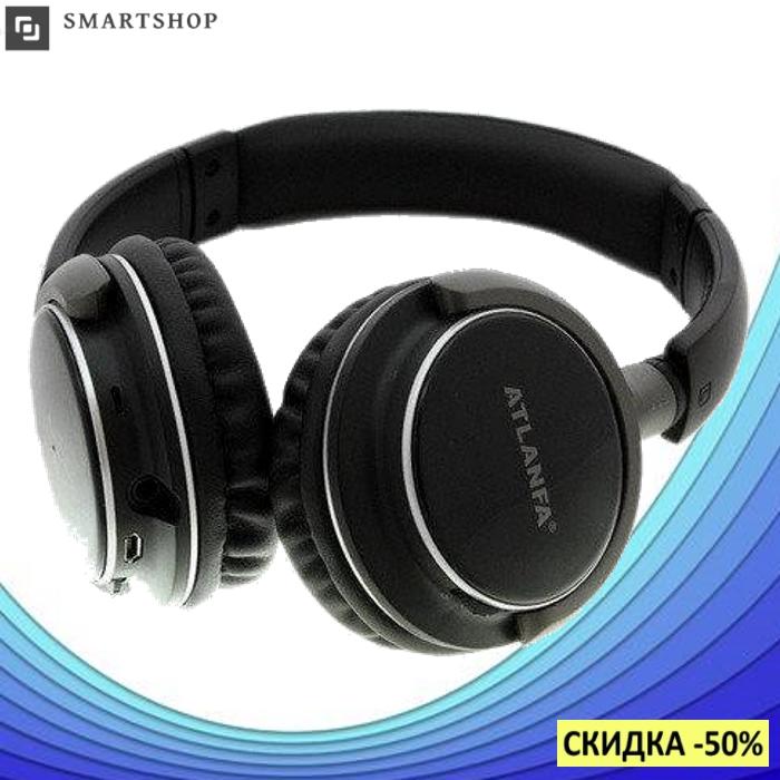 Беспроводные наушники ATLANFA AT-7612 - Bluetooth стерео наушники с MP3 плеером и FM радио (s8)