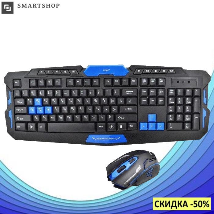 Беспроводная игровая клавиатура с мышью HK-8100 (s4)