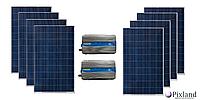Комплект солнечной системы для дома  2 кВт