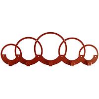 Вішалка настінна Glozis Rings H-071 50 х 17см, фото 1