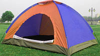 Палатка С Автоматическим Каркасом Цветная 2-х Местная Палатка Для Кемпинга Размер 2x1 Метра, фото 1