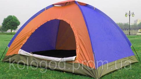 Палатка С Автоматическим Каркасом Цветная 4-х Местная Палатка Для Кемпинга Размер 2x2 Метра