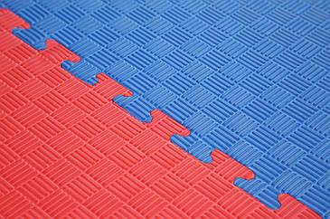 Мат-татами Active Sports красно-синий 100х100 толщина - 20 мм