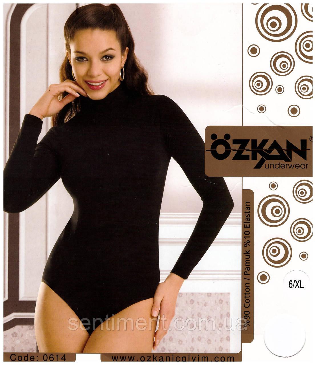Боди женское с длинным рукавом. OZKAN 0614. Розница и опт.