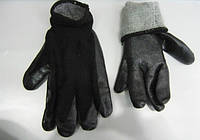 Перчатка рабочая прорезиненная с махровым утеплителем