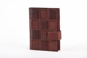 """Ежедневник со съемным блоком с обложкой из натуральной кожи коричневого цвета """"Makey"""""""