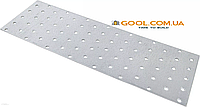 Пластина перфорированная 80х140х2мм металлическая для соединения деревянных конструкций упаковка 50 штук, фото 1