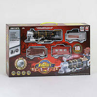 Железная дорога 3052 12 18 элементов, со светом, звук, дым SKL11-219971