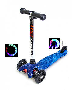 Самокат Детский Micro Mini Космос Со светящимися колесами (SD)