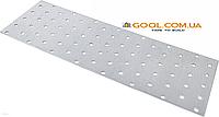 Пластина перфорированная 80х300х2мм металлическая для соединения деревянных конструкций упаковка 50 штук