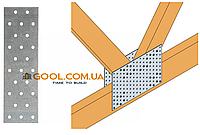 Пластина перфорированная 100х160х2мм металлическая для соединения деревянных конструкций упаковка 40 штук