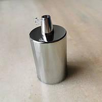 Патрон стальная гильза ХРОМ  е-27 ( с металлическим фиксатором провода ), фото 1