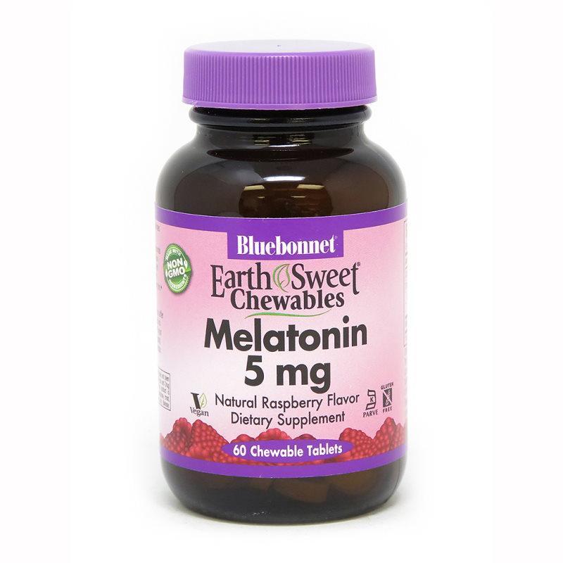 Восстановитель Bluebonnet Earth Sweet Chewables Melatonin 5 mg, 60 жевательных таблеток