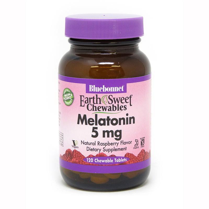 Восстановитель Bluebonnet Earth Sweet Chewables Melatonin 5 mg, 120 жевательных таблеток