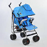 Коляска прогулочная Joy, голубая, широкий козырек, футкавер, d колес 15 см, в корке SKL11-183387