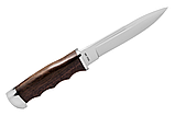Нож нескладной с деревянной рукояткой + чехол, отличный подарок мужчине, фото 2