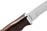 Нож нескладной с деревянной рукояткой + чехол, отличный подарок мужчине, фото 3