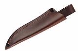 Нож нескладной с деревянной рукояткой + чехол, отличный подарок мужчине, фото 4