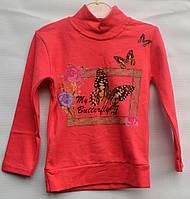 Туника для девочки 3-6 лет красная модель - 104136