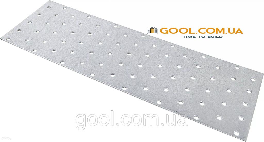 Пластина перфорированная 120х300х2мм металлическая для соединения деревянных конструкций упаковка 50 штук