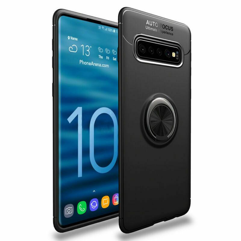 Чехол для телефона TPU Deen ColorRing Samsung Galaxy S10 Plus Черный / Черный