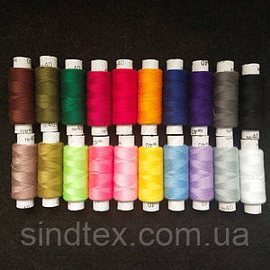 Набор ниток Радуга Sindtex 100% полиэстер 180м (уп 20шт на 20 цветов) (РАВ-Н07)