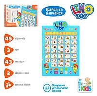 Интерактивный плакат Букварик 7031Ua (на укр. языке)