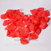 Червоні пелюстки троянд