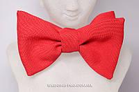 Красный галстук бабочка самовяз, фото 1
