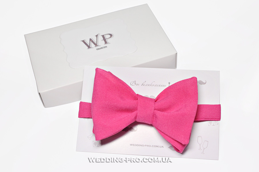Бабочка на свадьбу розовая